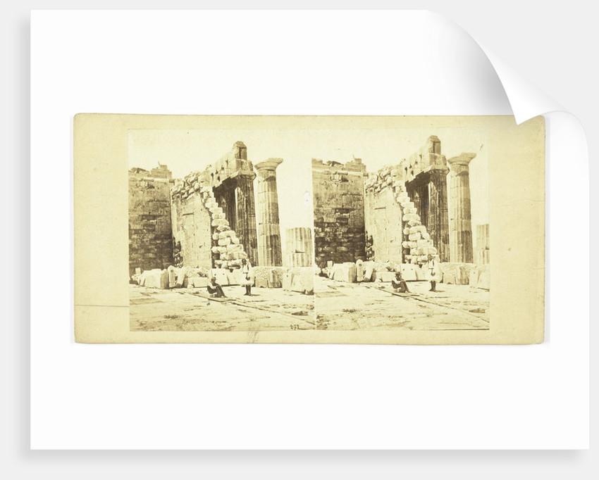 Interior Athens Parthenon on Acropolis, No. 272 by Anonymous