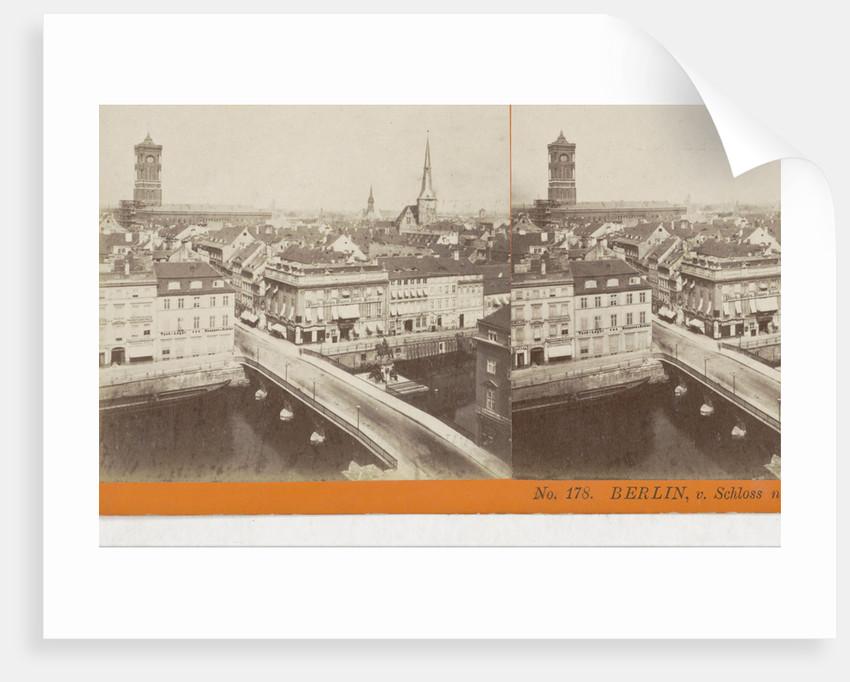 Berlin, v. Schloss n. D. Konigs-Str, Germany by Johann Friedrich Stiehm