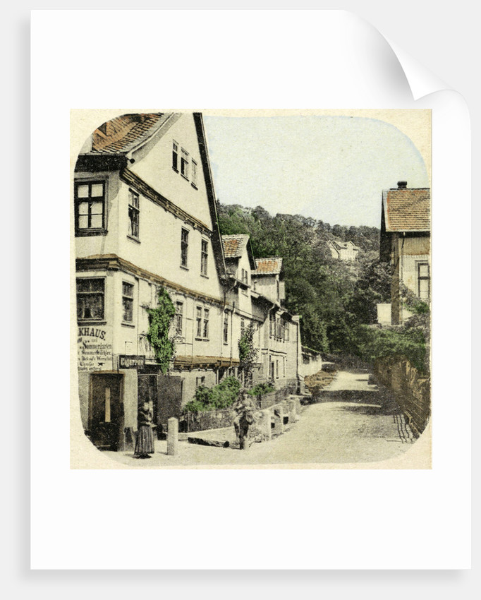 Harz The Inn on the Hexentanzplatz, Germany by H. Selle