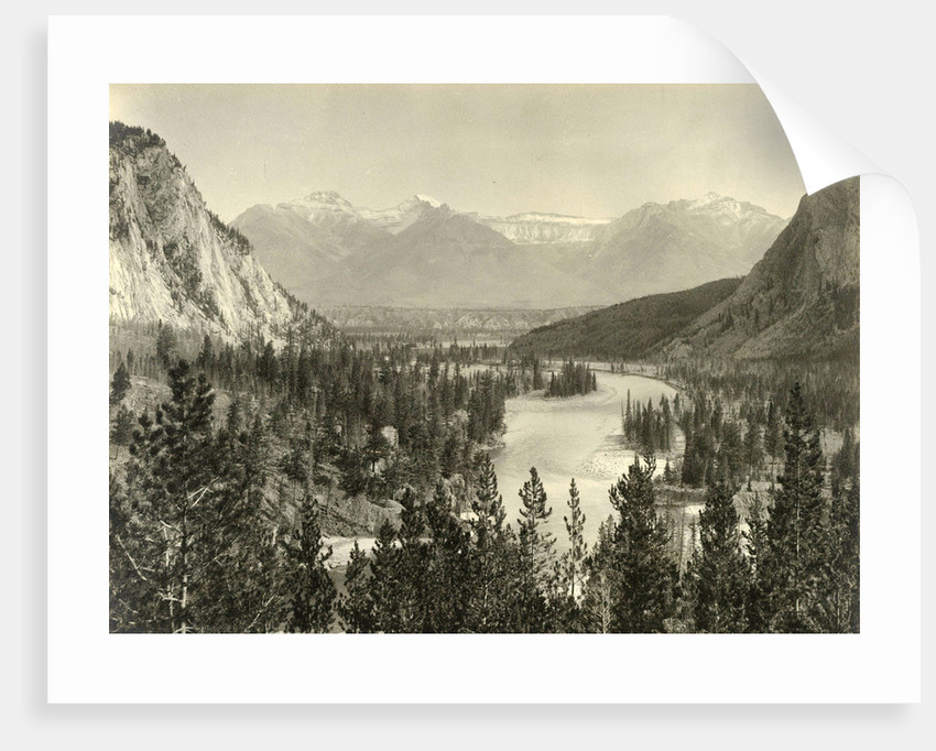 Face on Bow Valley in Alberta by William Notman