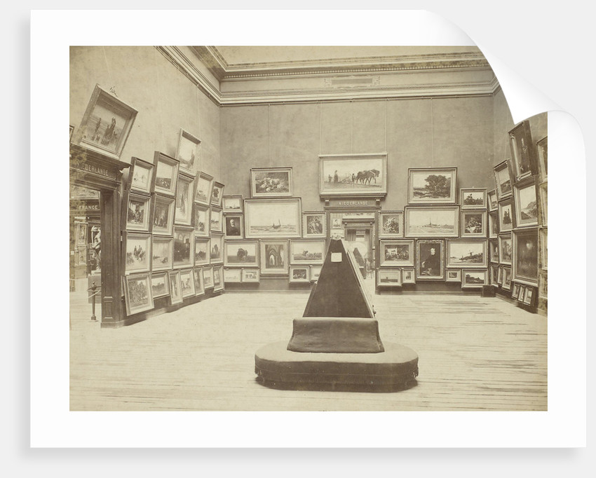 Hall with Dutch paintings at the World Exhibition in Vienna in 1873 by Anonymous