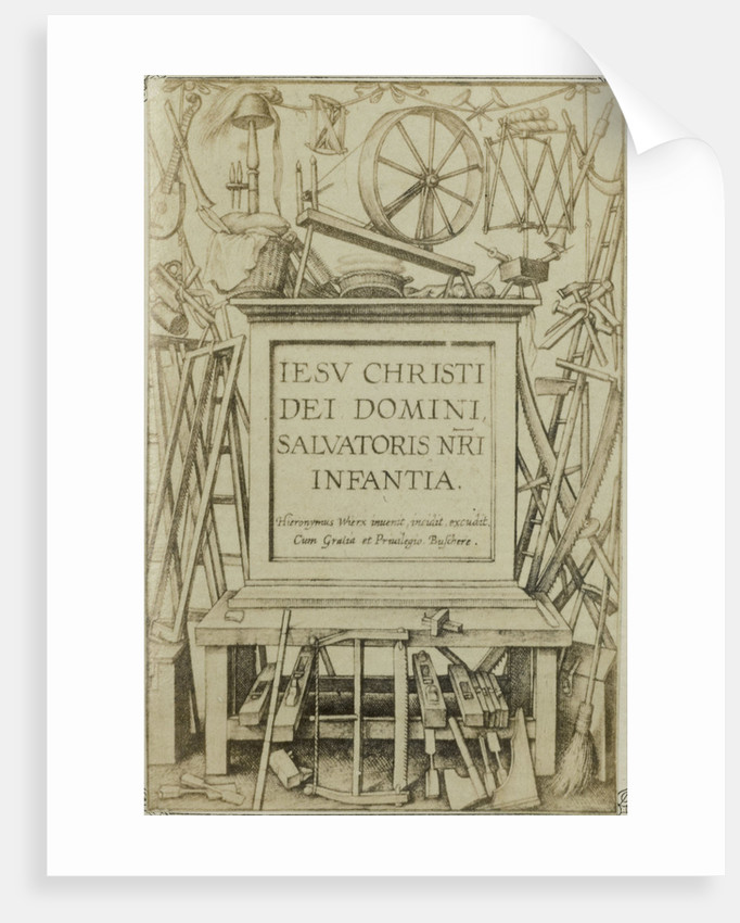 Engraving IESV CHRISTI DEI DOMINIANNI, Salvatoris NRA Infantia by Edmond Fierlants