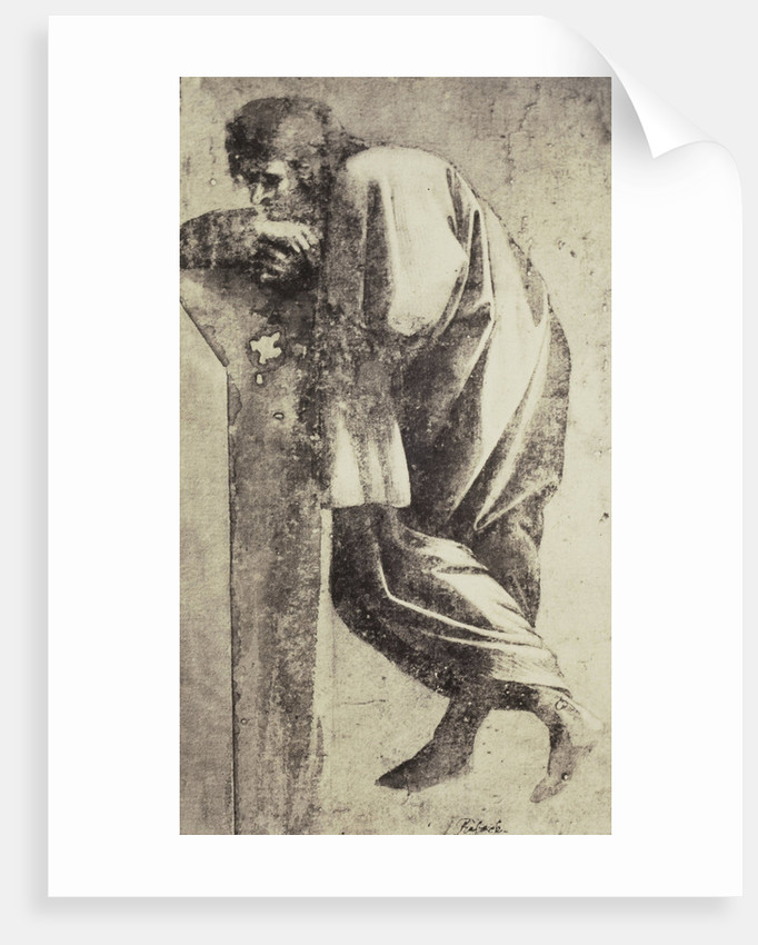 Drawing Raphael from Windsor Castle, standing Greek style, leaning by Charles Thurston Thompson