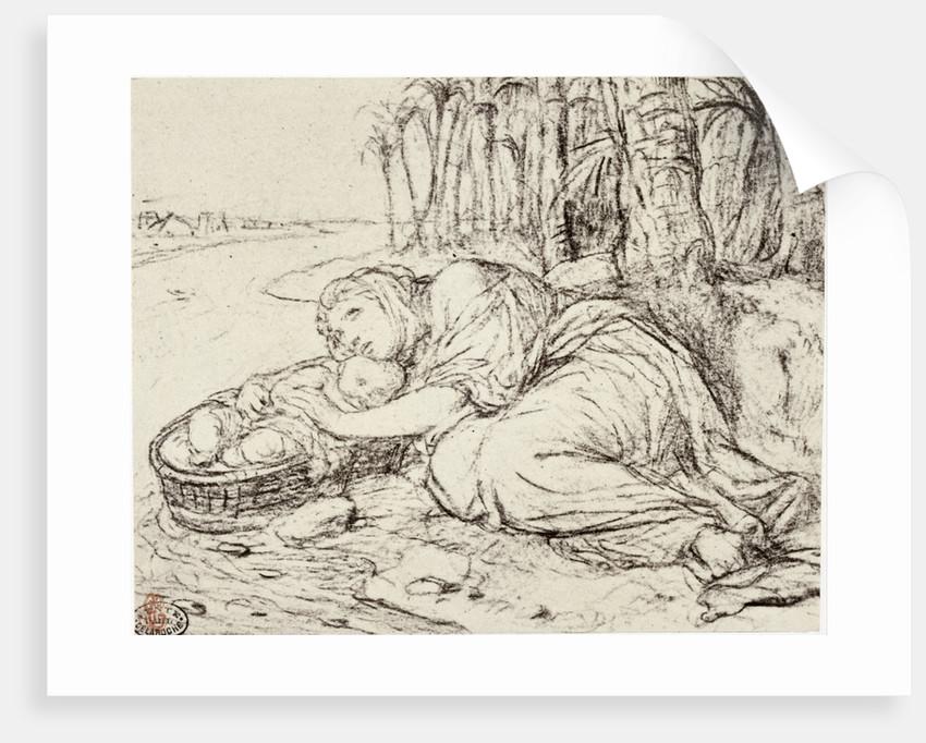 La mere de Moise by Paul Delaroche