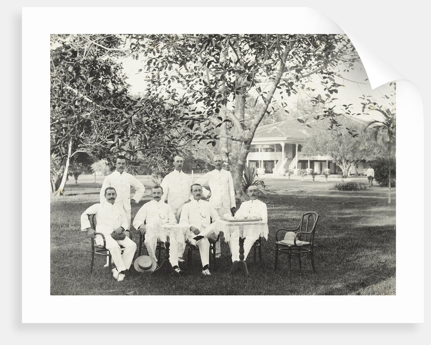 Group of men, possibly for Government Palace in Batavia Jakarta, Indonesia by Anonymous