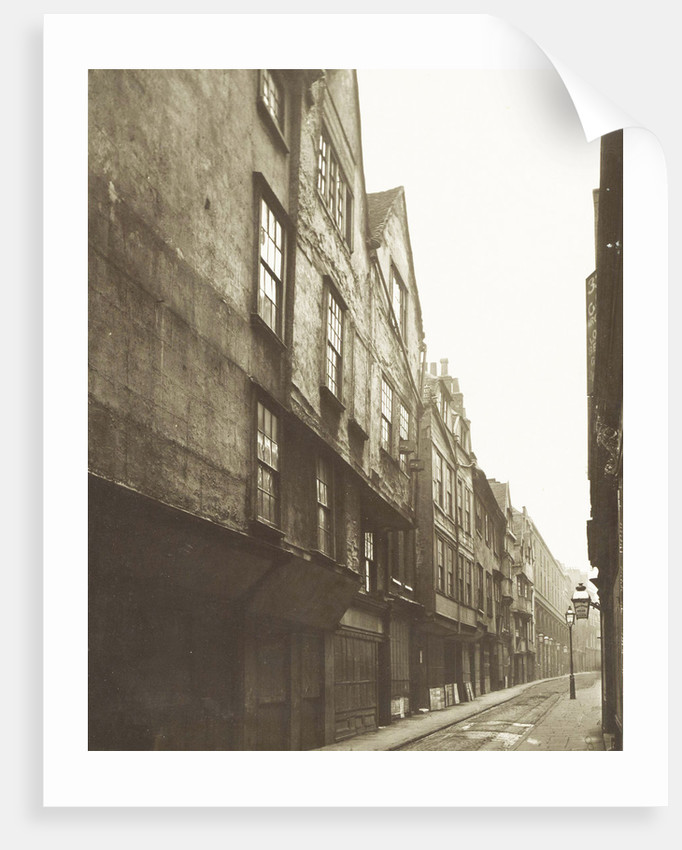 Old houses in Wych Street, London UK