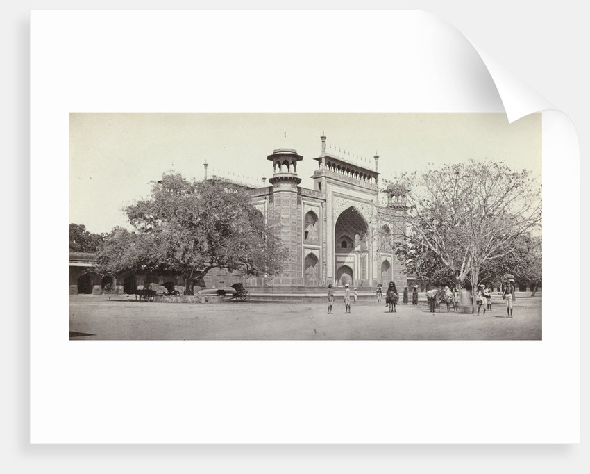 Gateway to the Taj Mahal Darwaza-i rauza, India by Samuel Bourne