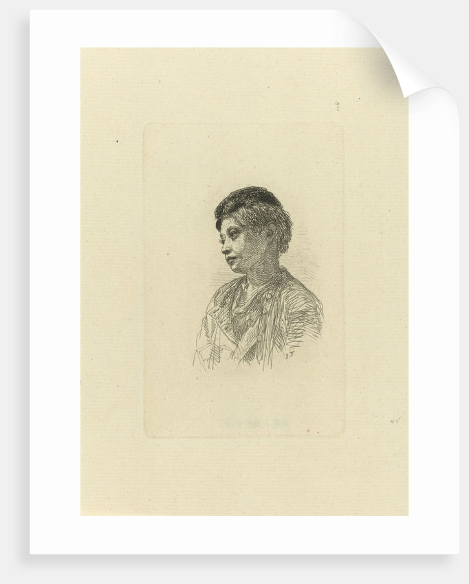Bust of a boy with cap by Jacob Taanman