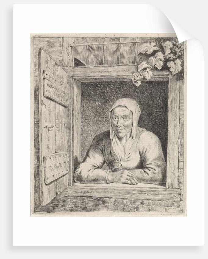 Woman in window by Johannes Christiaan Janson