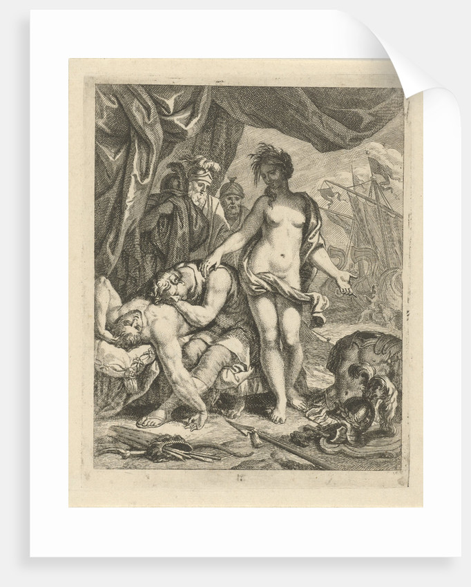 Achilles mourns the death of Patroclus, J. Alexander Janssens by Victor Honoré Janssens