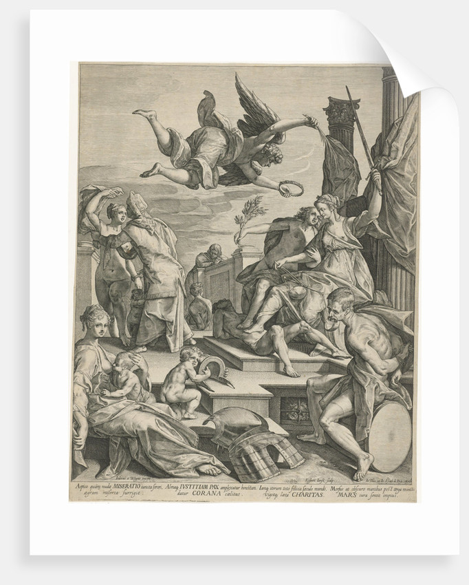 Allegory of Justice, Pax and Charity by Johann Theodor and Johann Israel de Bry