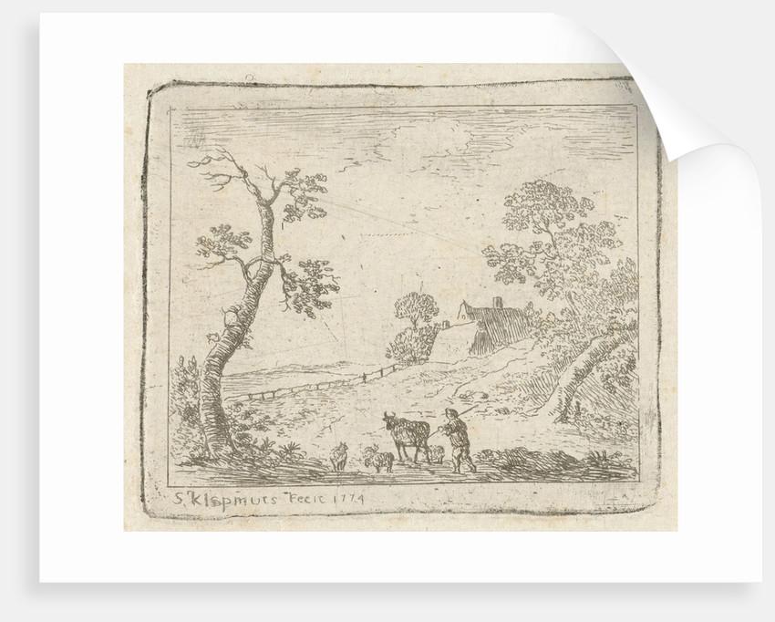 Landscape with a Shepherd by Simon Klapmuts