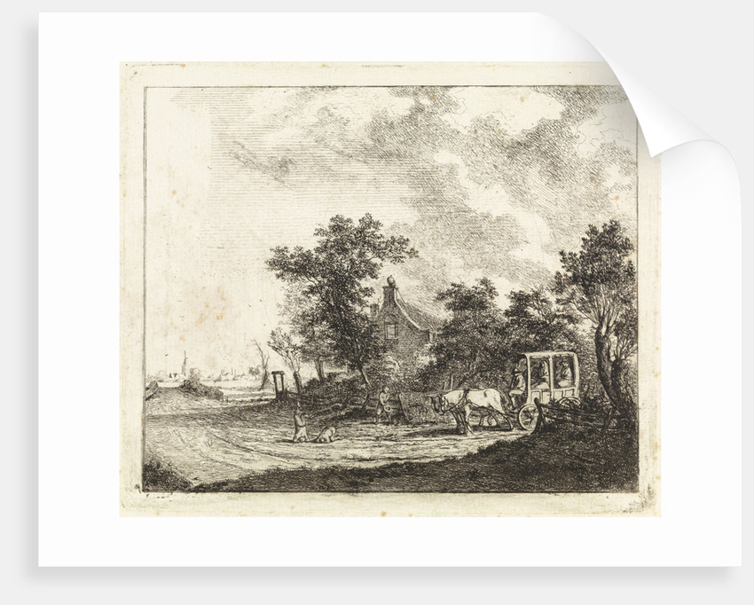 Horse and carriage for a house by Johannes Huibert Prins