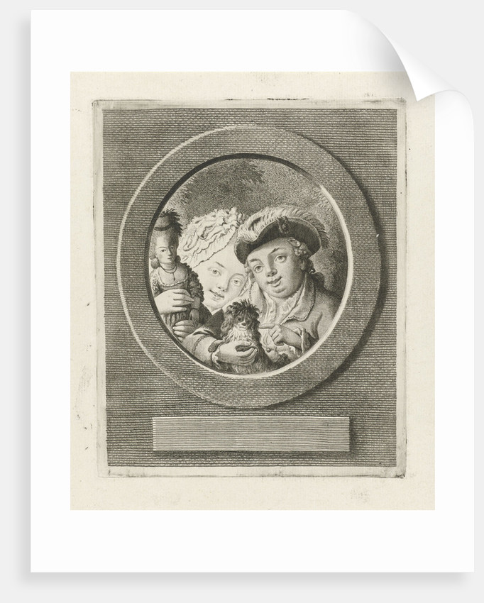 Portrait of the children of Mr. Neccair. The girl with a doll and the boy with a dog by Theodorus de Roode