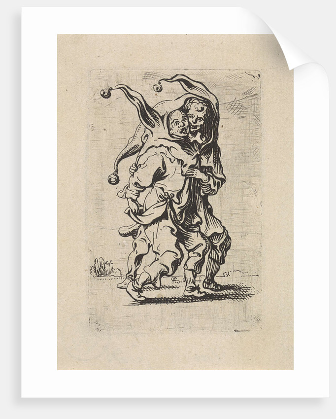 Two fools with a fool's cap on the head by Antoine Sallaert