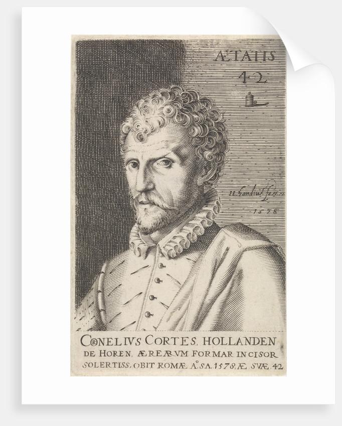 Portrait of Cornelis Cort by Hendrick Hondius I