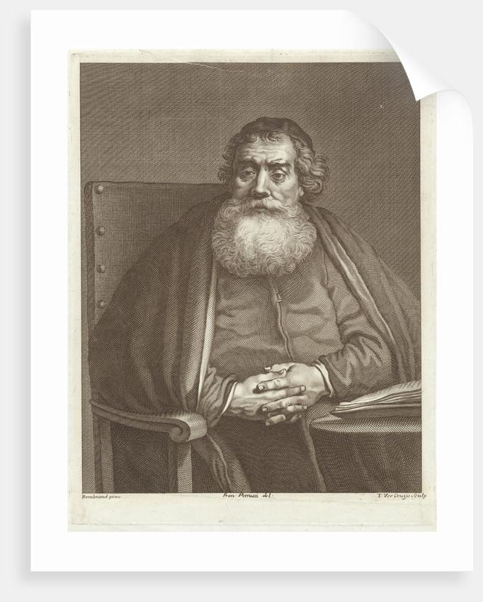 Seated man with beard by Theodor Vercruys