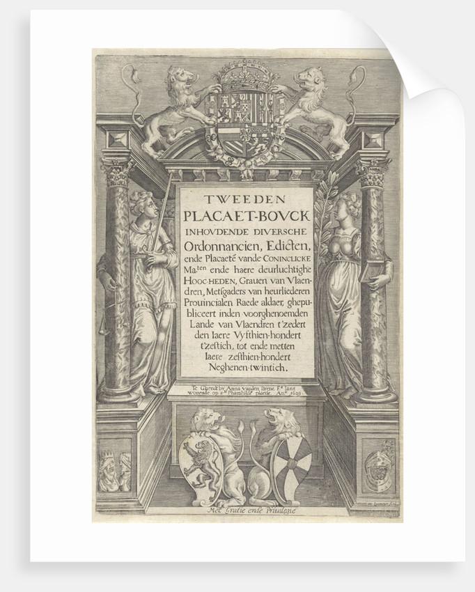 Altar with allegorical figures by Raad van Vlaanderen