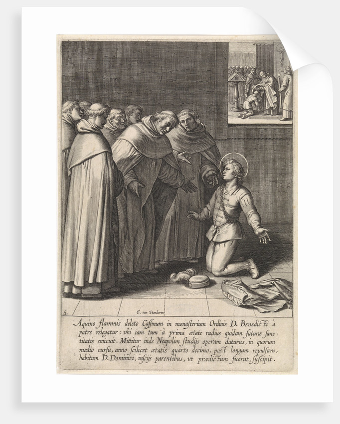 Aquinas joined the Dominican Order by Otto van Veen