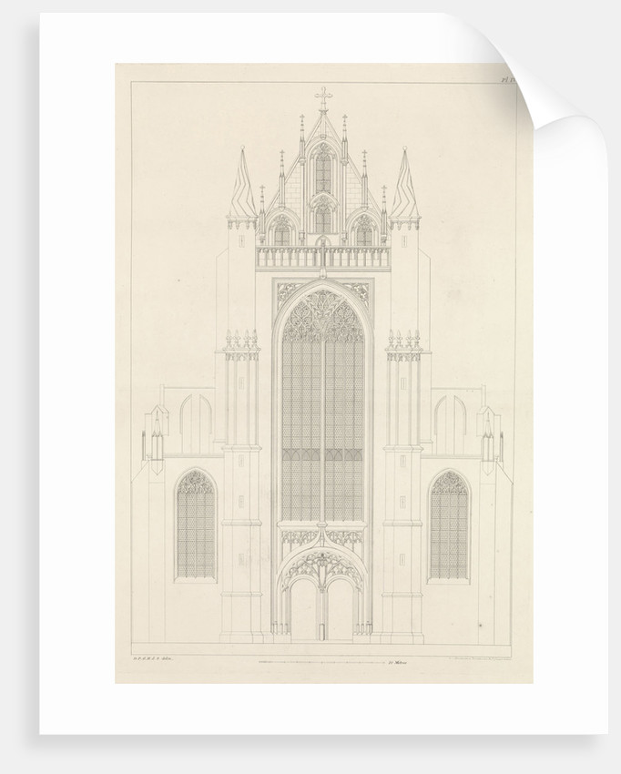 North Portal of the Highland church in Leiden by Alphonse Pierre Giraud