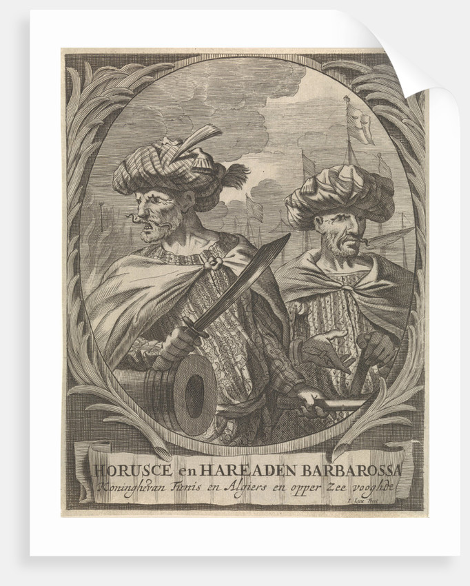Portraits of Horusce and Hareaden Barbarossa, Barbary pirates by Ignatius Lux