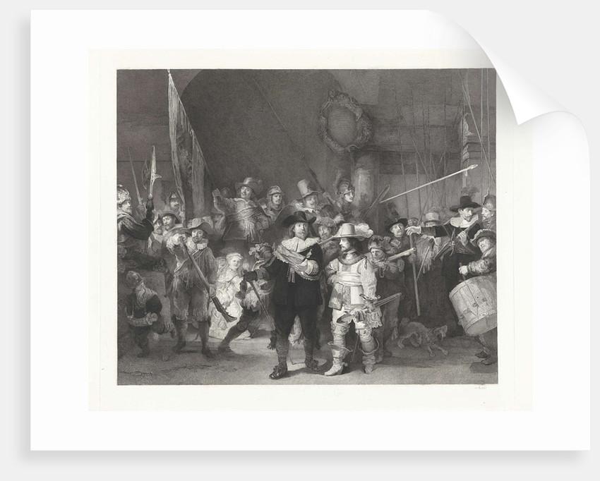 Captain Frans Banninck Cocq and Lieutenant Willem van Ruytenburch, known as the Night Watch by Johann Wilhelm Kaiser I