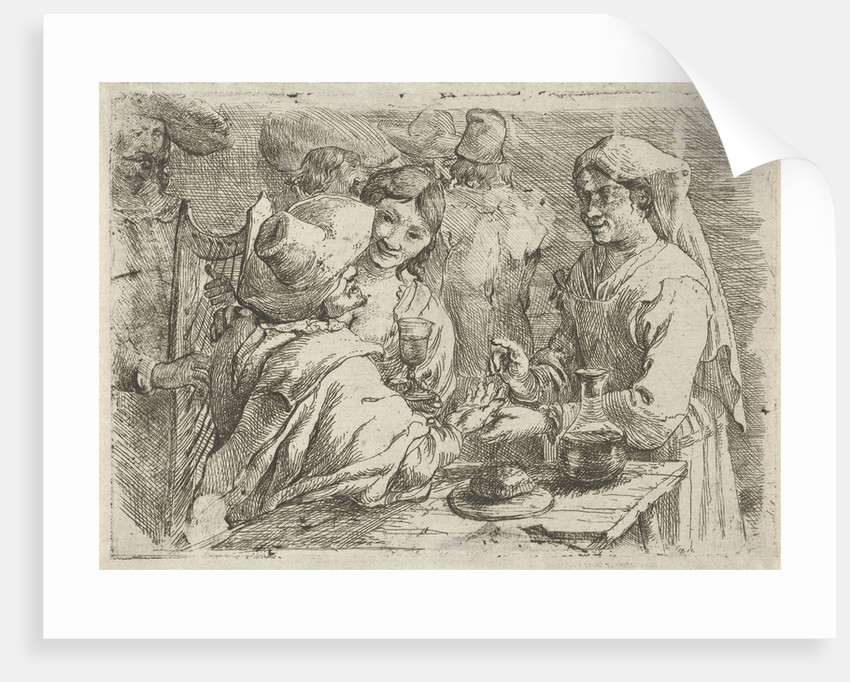 Fortune teller with a customer by Jan van Ossenbeeck