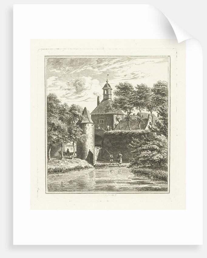 View of the Water Gate in Tiel by Johannes Alexander Rudolf Best