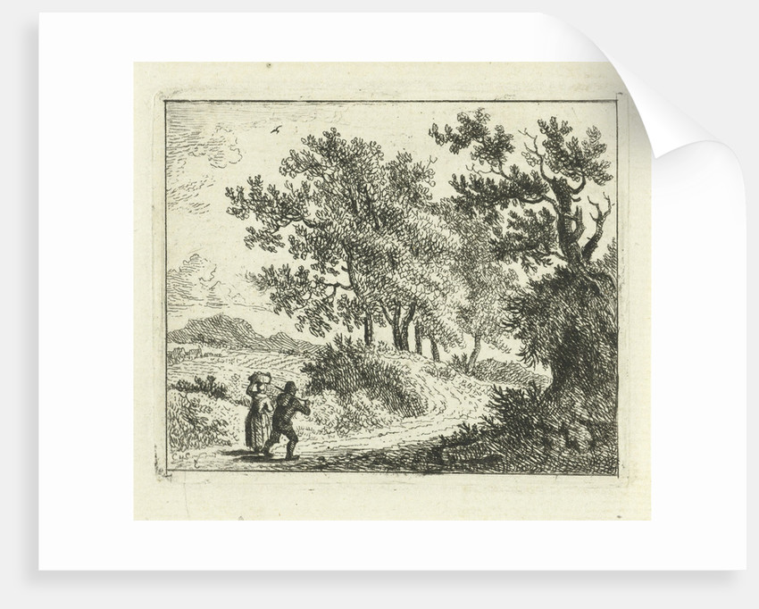 Hilly landscape with travelers by Cornelis van Cuylenburgh II