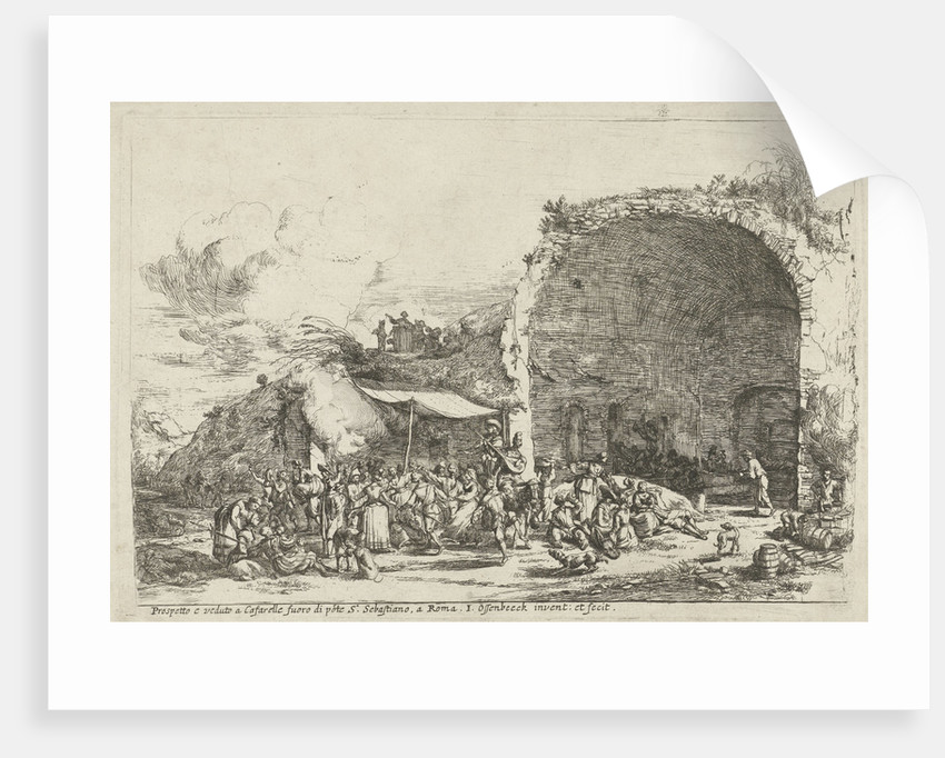 Festivities at the ruins of the cave of the nymph Egeria by Jan van Ossenbeeck