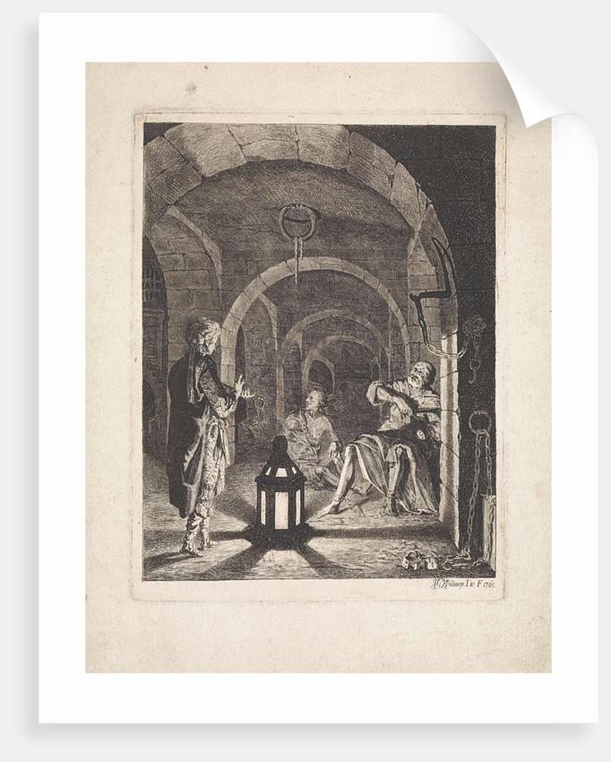 Joseph, dreams of cupbearer and baker by Jan Gerard Waldorp
