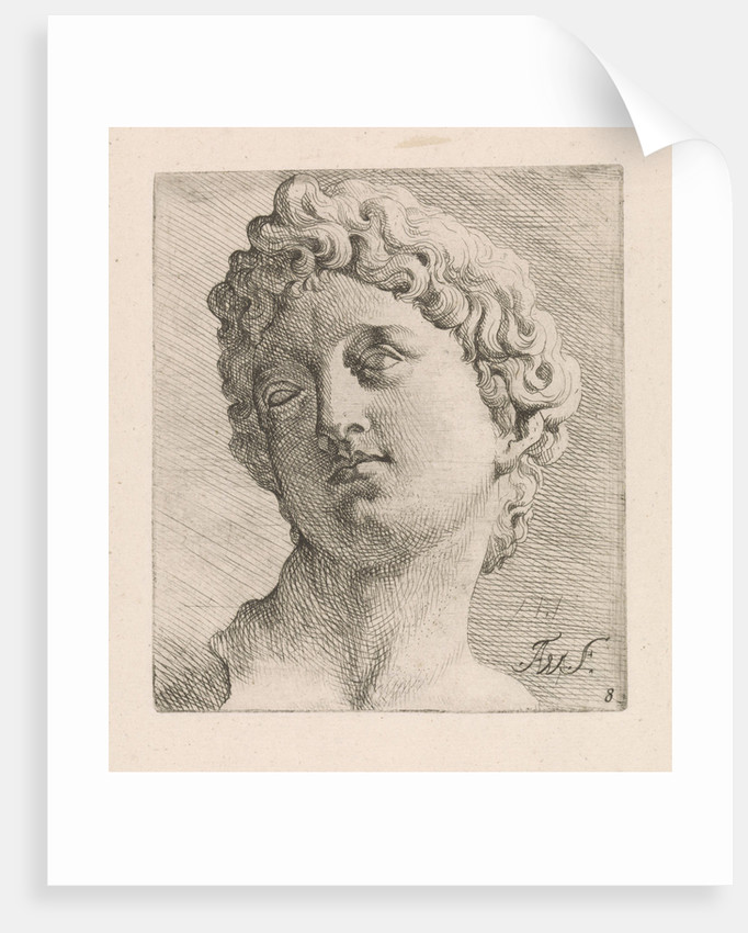 Portrait Bust of a man left by Augustinus Terwesten I