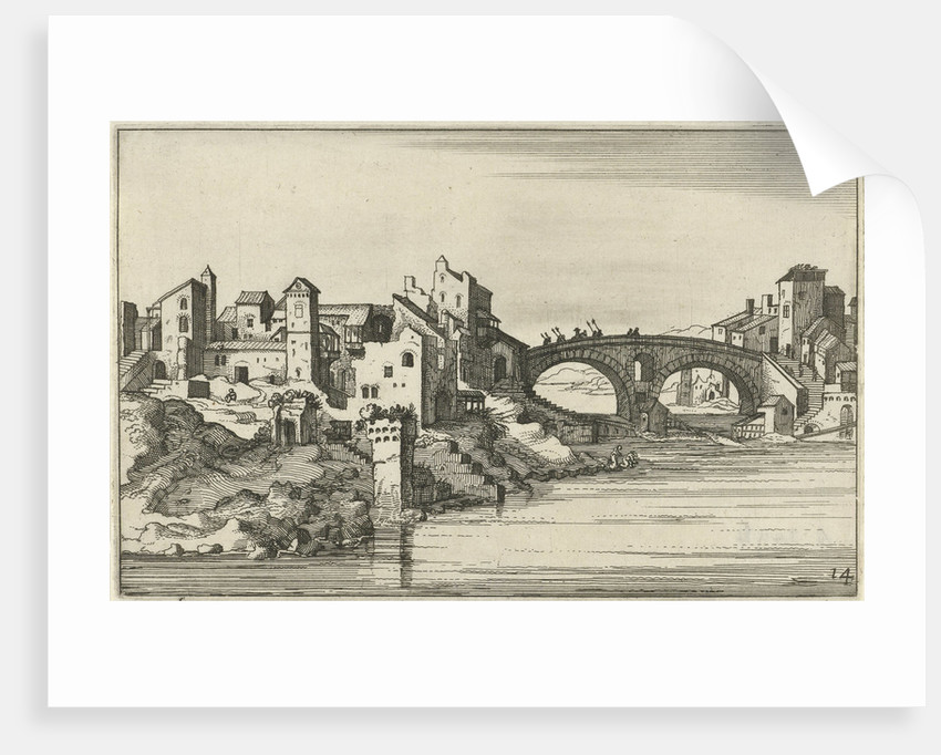 Bridge over the river by Claes Jansz. Visscher II