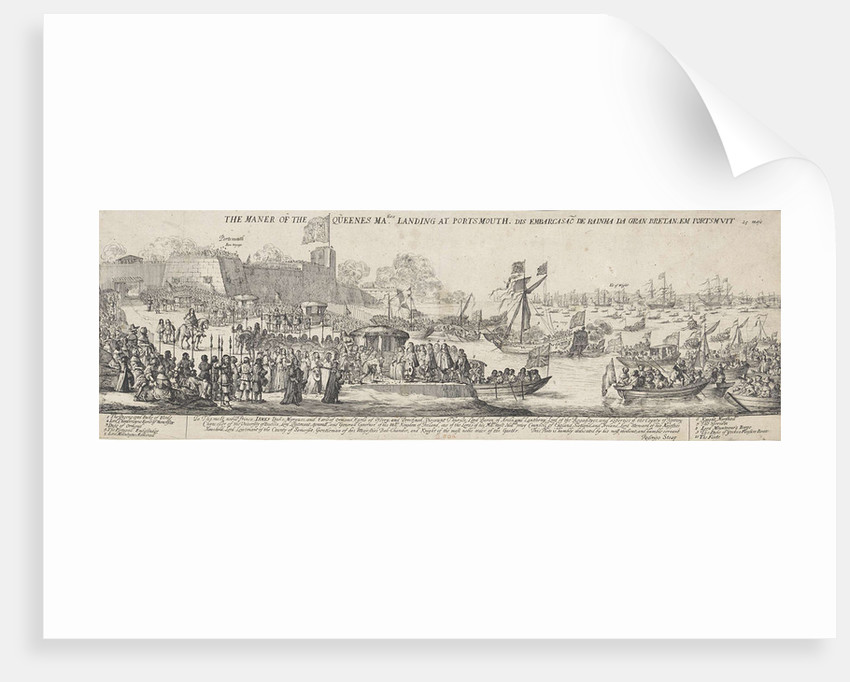 Arrival of Queen Catherine of Braganza in Portsmouth by James Butler