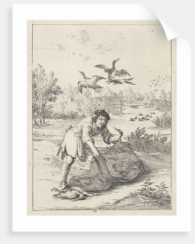 Fable of the farmer and the stork by John Ogilby