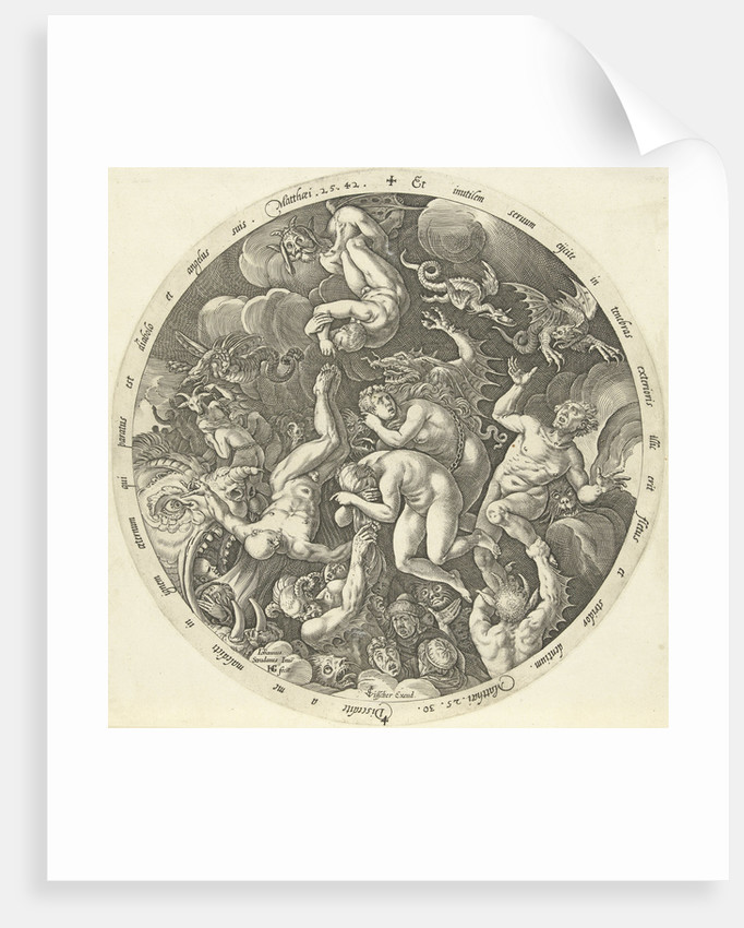 The arrival of the damned in hell by Hendrick Goltzius