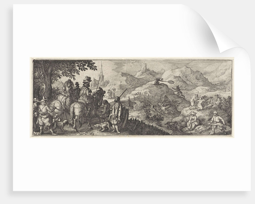 Hare Hunting by Claes Jansz. Visscher II