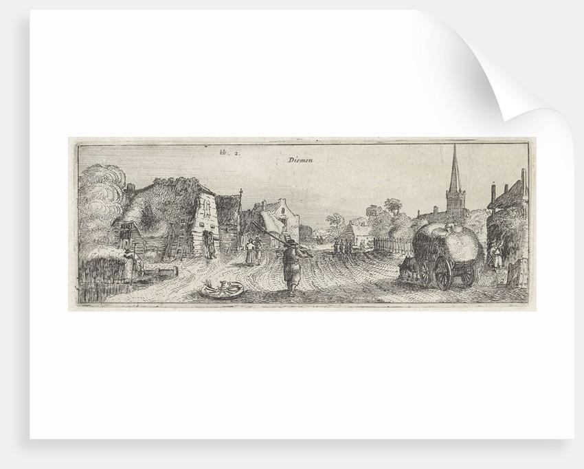 View of the village Diemen by Claes Jansz. Visscher II