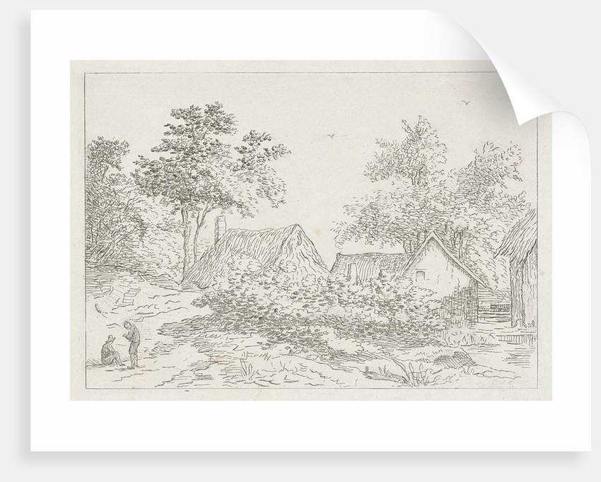 Landscape with farms by baron Reinierus Albertus Ludovicus van Isendoorn à Blois