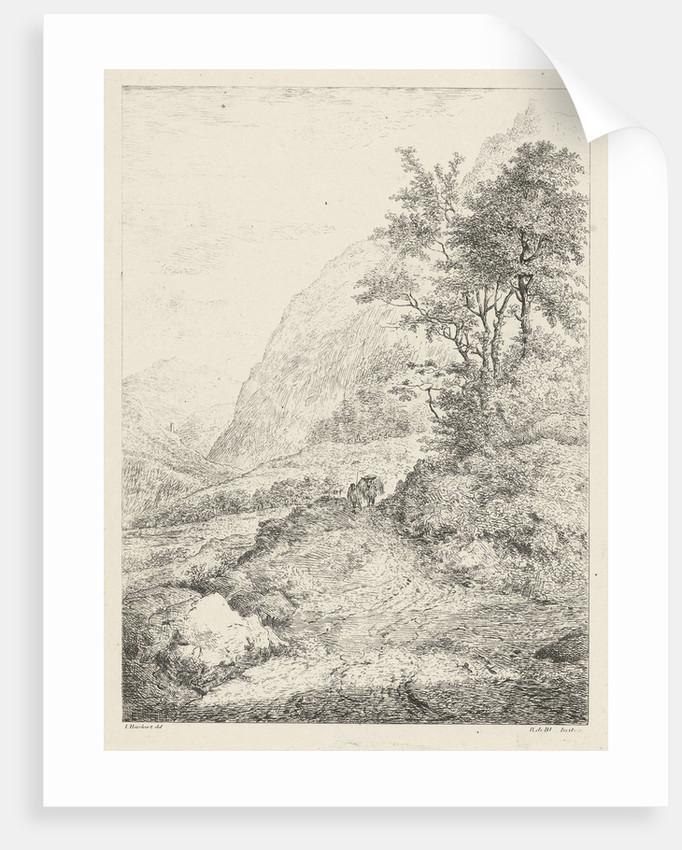 Mountain landscape by baron Reinierus Albertus Ludovicus van Isendoorn à Blois