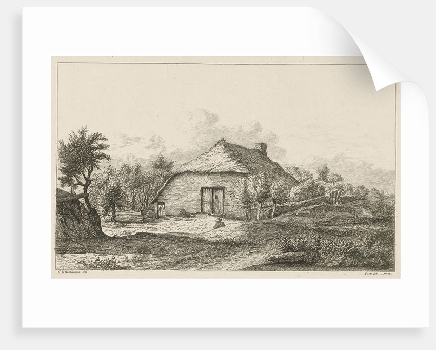 House with straw roof by baron Reinierus Albertus Ludovicus van Isendoorn à Blois