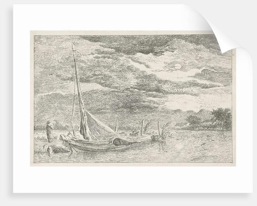 Water at moonlight by baron Reinierus Albertus Ludovicus van Isendoorn à Blois