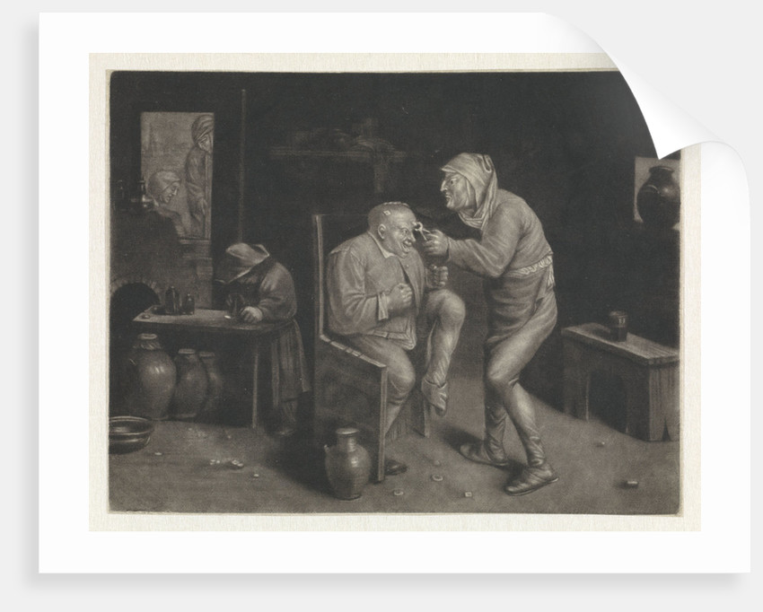 Keisnijder, doctor, The Extraction of the Stone by Jan van der Bruggen