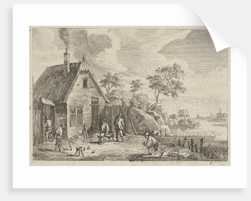 Farmers play bocce by Jan Lauwryn Krafft I