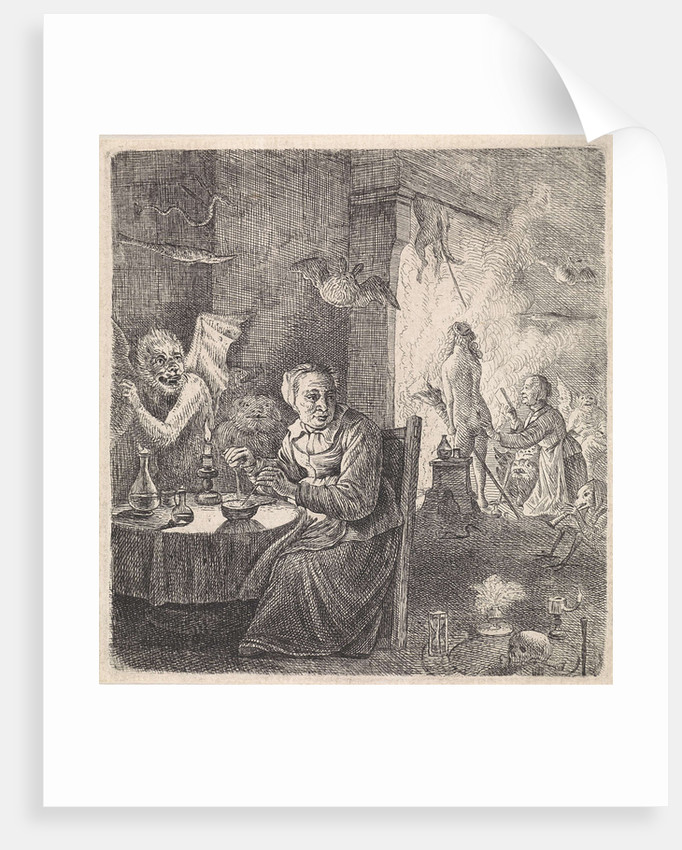 Interior with witches by Anonymous
