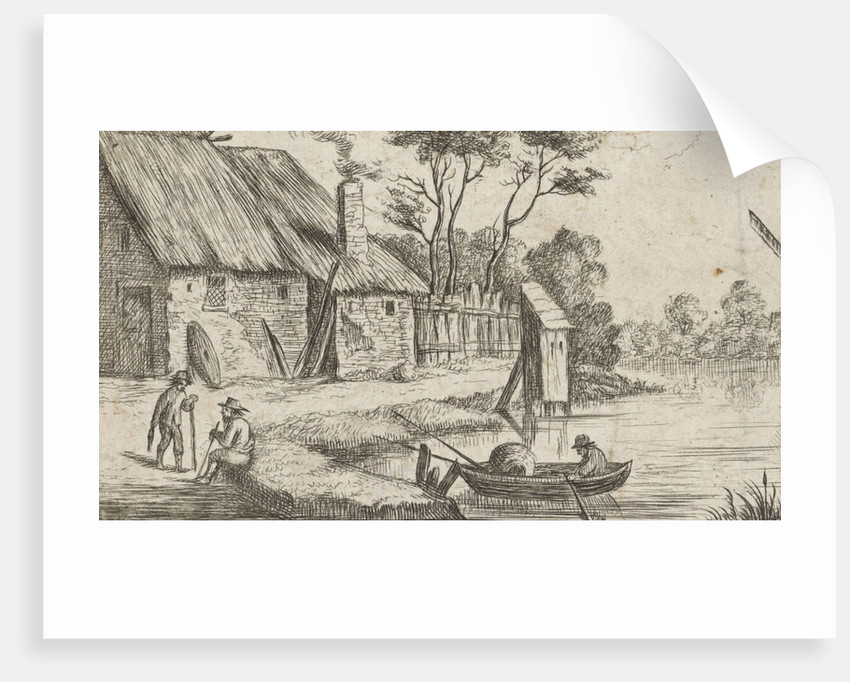 Landscape with farm and water by Frans van den Wijngaerde