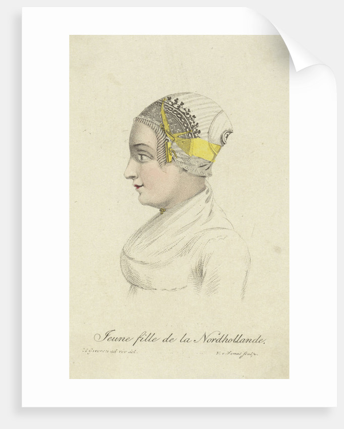 Bust of a girl in traditional costume B by Willem van Senus
