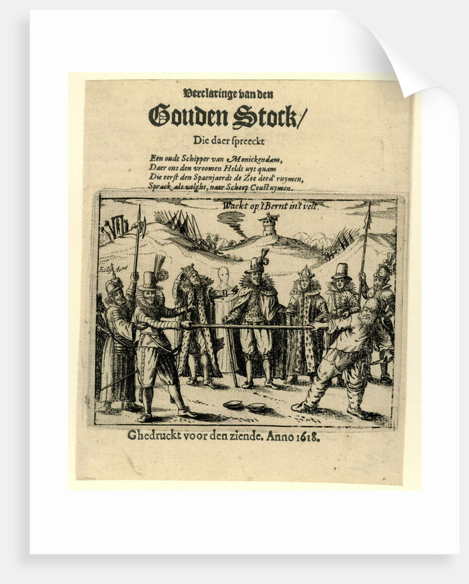 Title print of the pamphlet Verclaringe of the Golden Stock, 1618 by Anonymous