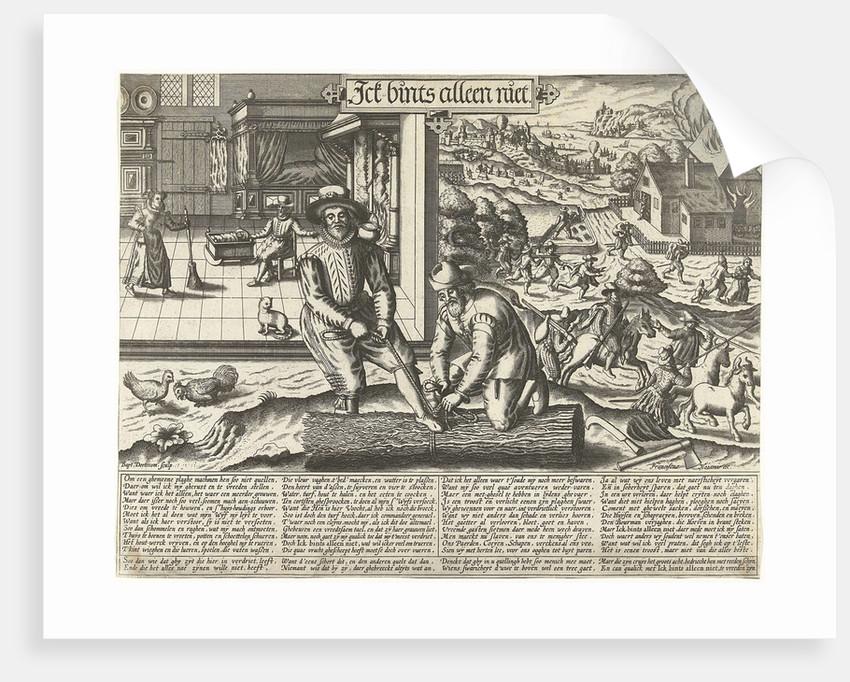 Proverb: Ick bints not only, Baptista van Doetechum by François van den Hoeye