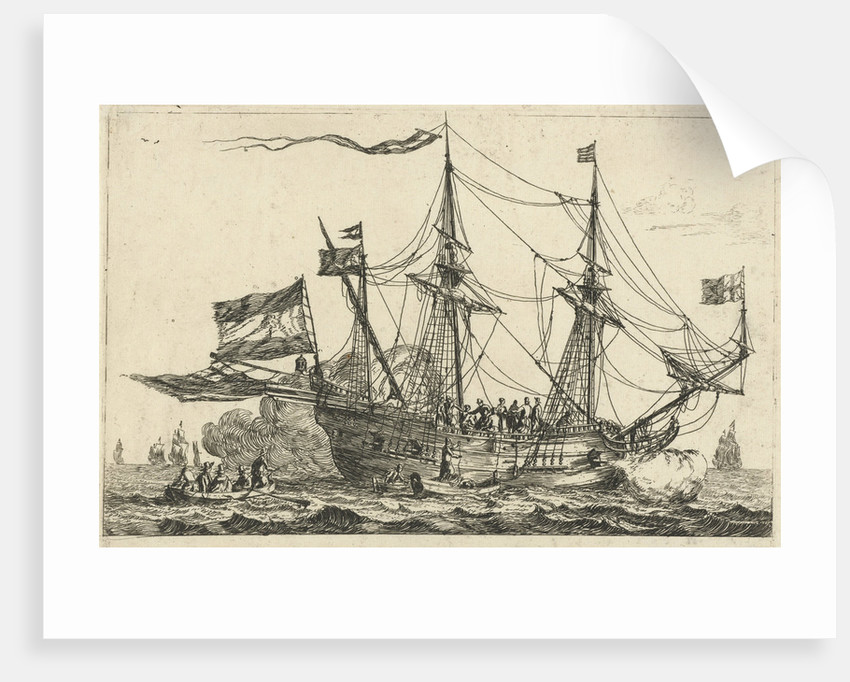 Arrival of an English ship by Reinier Nooms